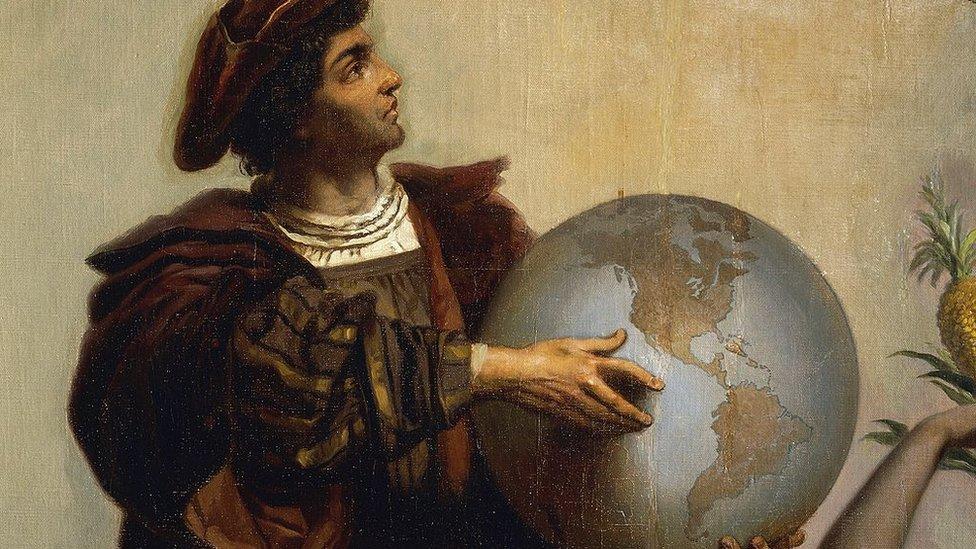 Pintura de Cristóbal Colón de Peter Johann Nepomuk Geiger (1805-1880).