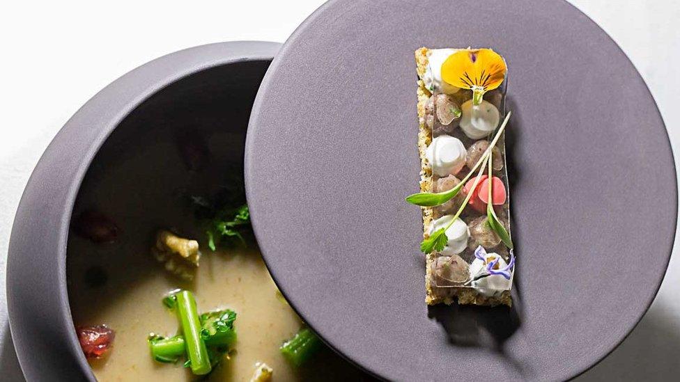 Uno de los platos de la chef