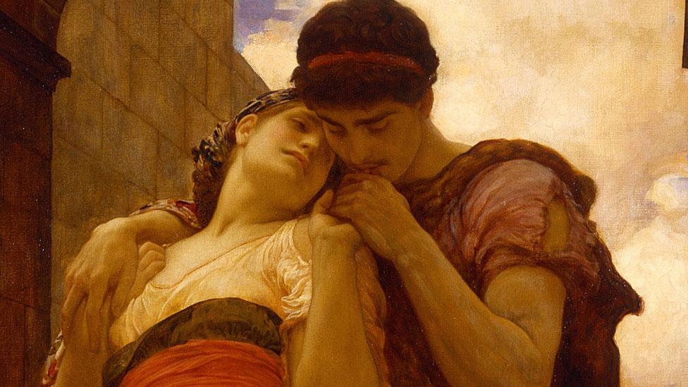 Wedded, 1882. Encontrado en la colección de la Galería de Arte de Nueva Gales del Sur. Artista Frederic Leighton, primer barón Leighton (1830-1896).