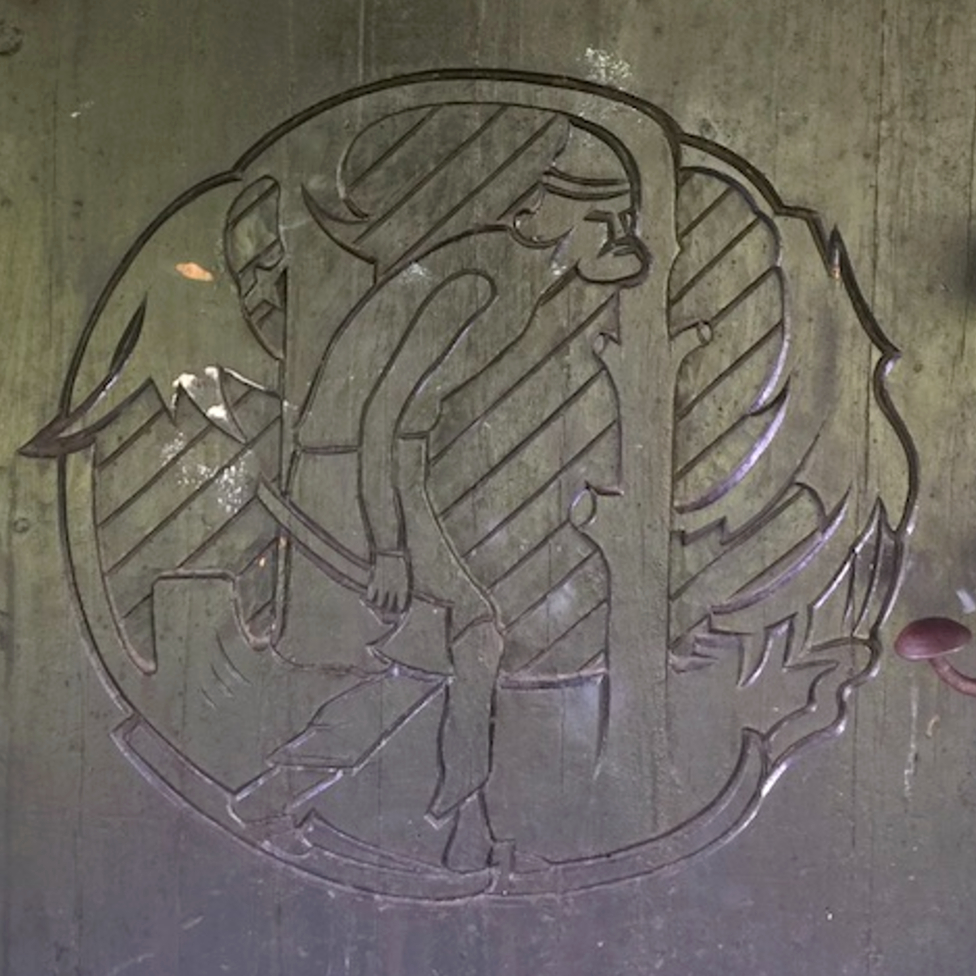 Carving on the door