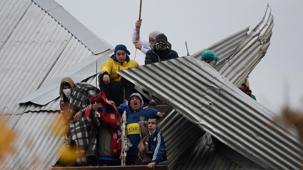 Protestas en cárceles de Argentina.