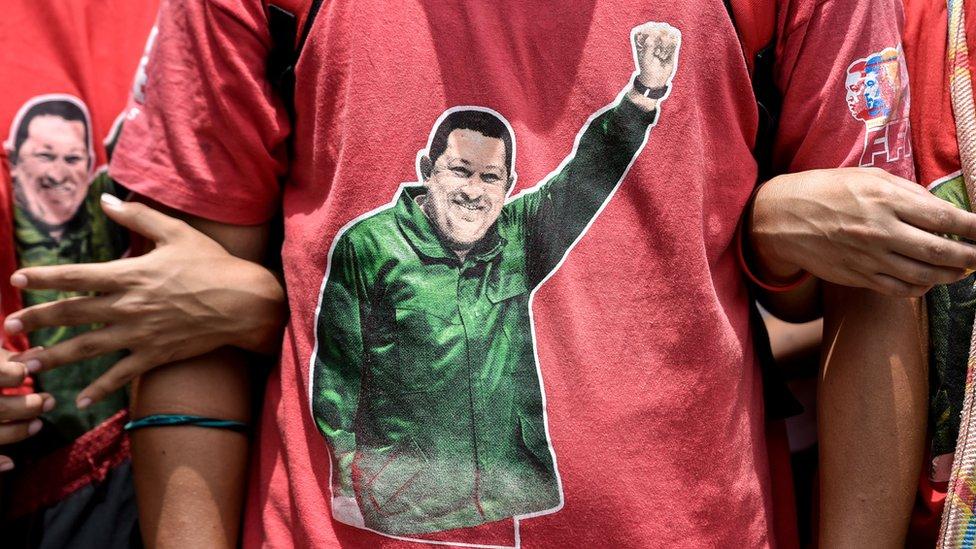 Simpatizantes de Chávez.