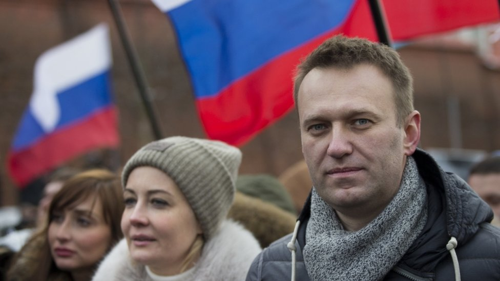 Leading opposition figure Alexei Navalny was also at the march