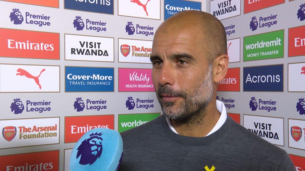 Arsenal 0-2 Manchester City: Pep Guardiola hails 'fantastic squad'