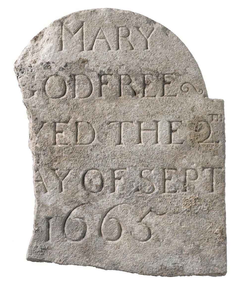 Gravestone of Mary Godfree