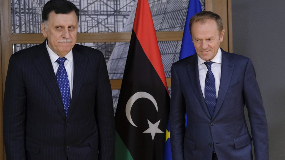 فايز السراج ودونالدر توسك رئيس المفوضية الأوروبية
