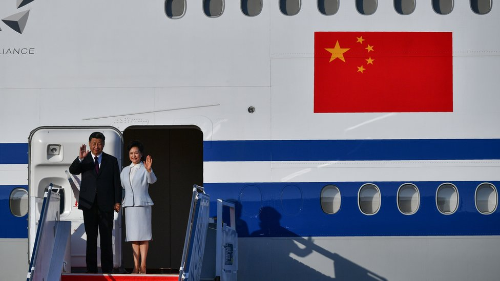中國國家主席習近平到訪澳門,出席紀念治權移交20週年的活動,是他第三次到訪當地。