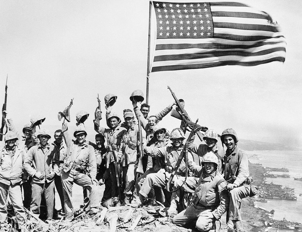The soldiers on Iwo Jima