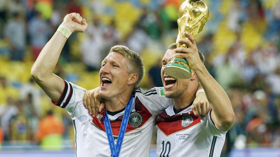 Celebración de la selección alemana al ganar la Copa del Mundo.