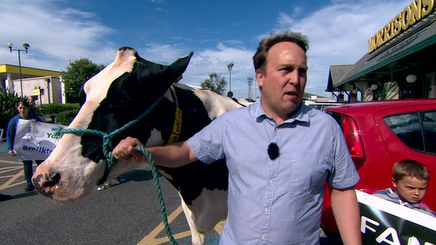 Michael Shadwick and his cow