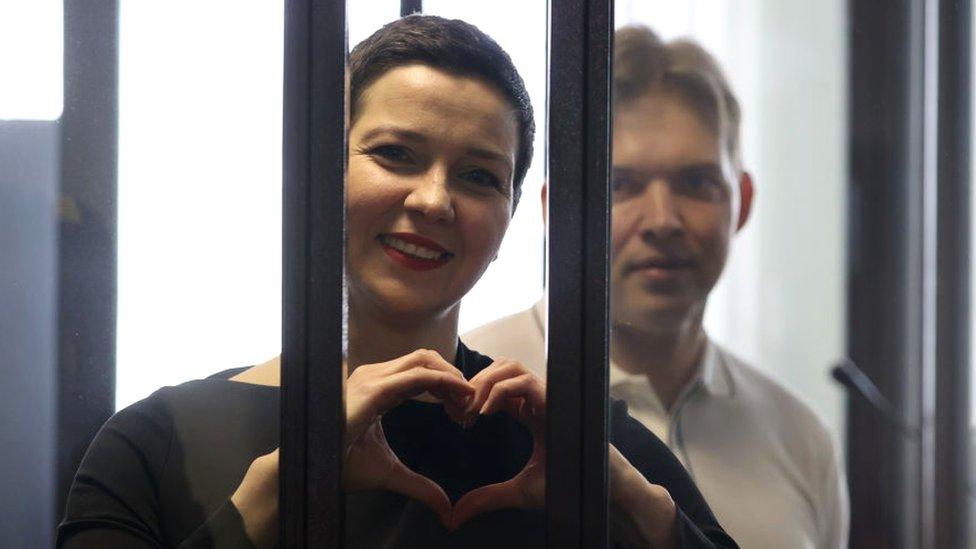 Saslušanja u slučaju protiv Marije Kalesnikove i Maksima Znaka počela su u beloruskoj prestonici