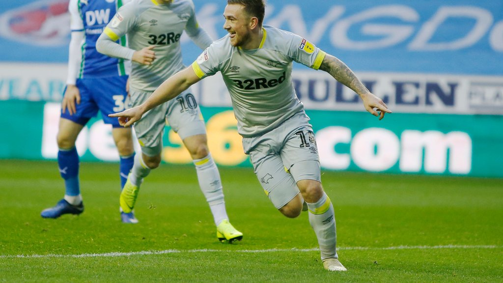 Wigan Athletic 0-1 Derby County: Rams move up to fourth in the Championship