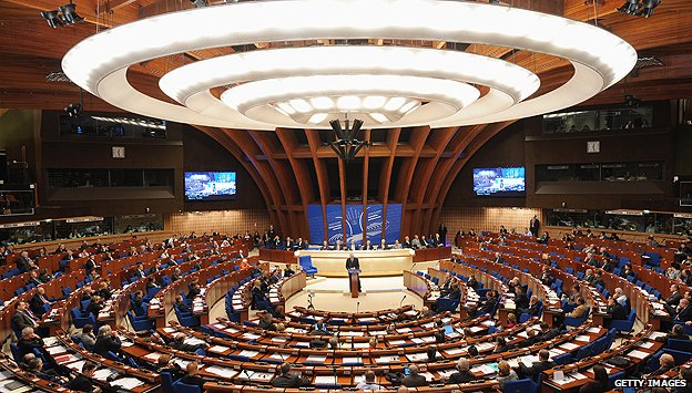 Council of Europe chamber in Strasbourg