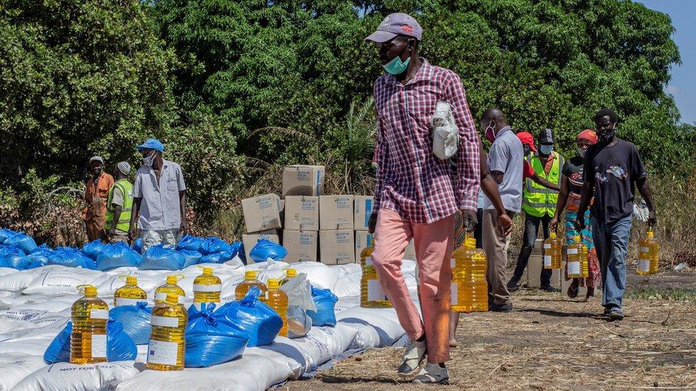 Bantuan WFP di Mozambique.