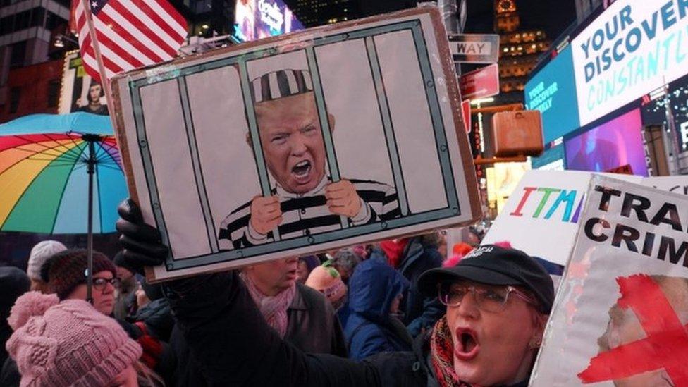 Protestas a favor del impeachment.