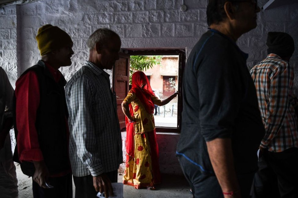 Indian woman voter