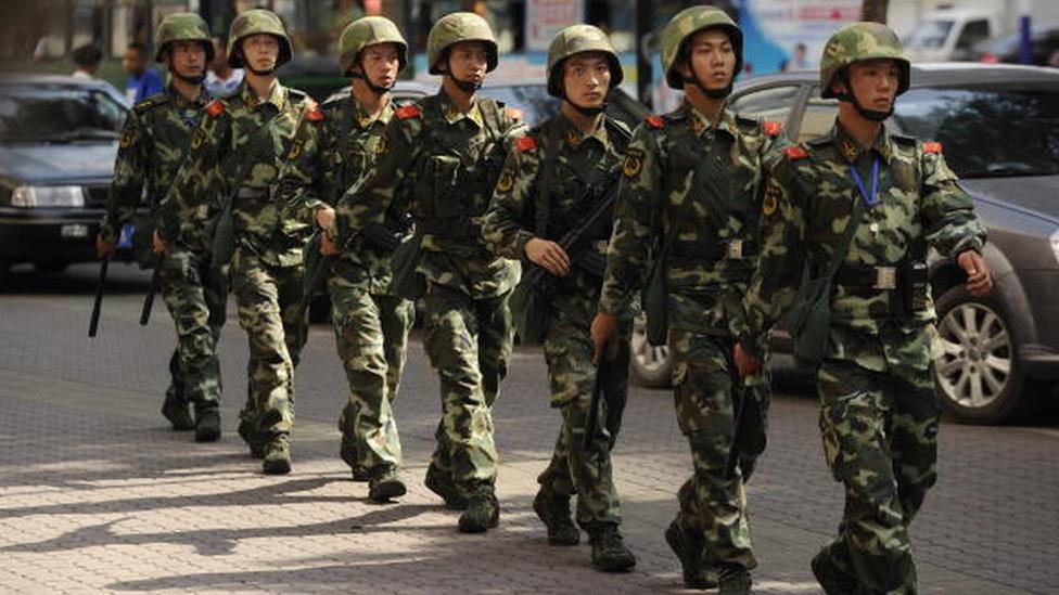 2009'da çıkan çatışmaların ardından Çin ordusu Sincan bölgesine gönderilmişti
