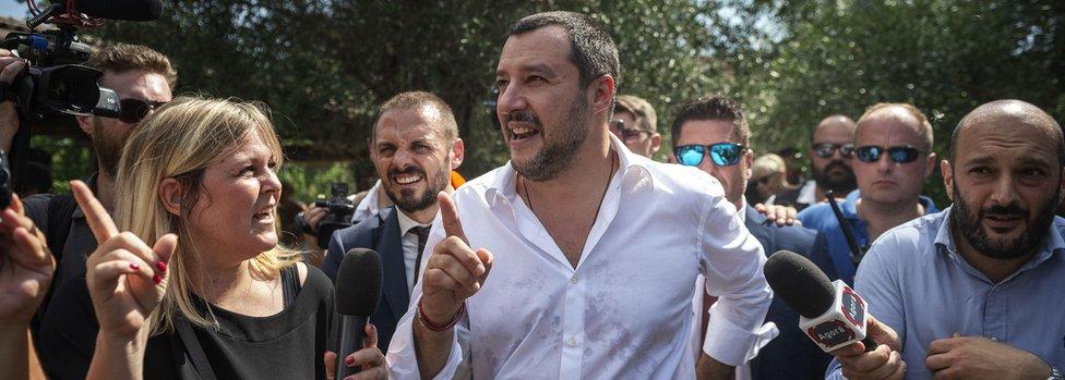 El nuevo ministro del Interior italiano, Matteo Salvini, el 21 de junio de 2018, 20 días después de su toma de posesión.