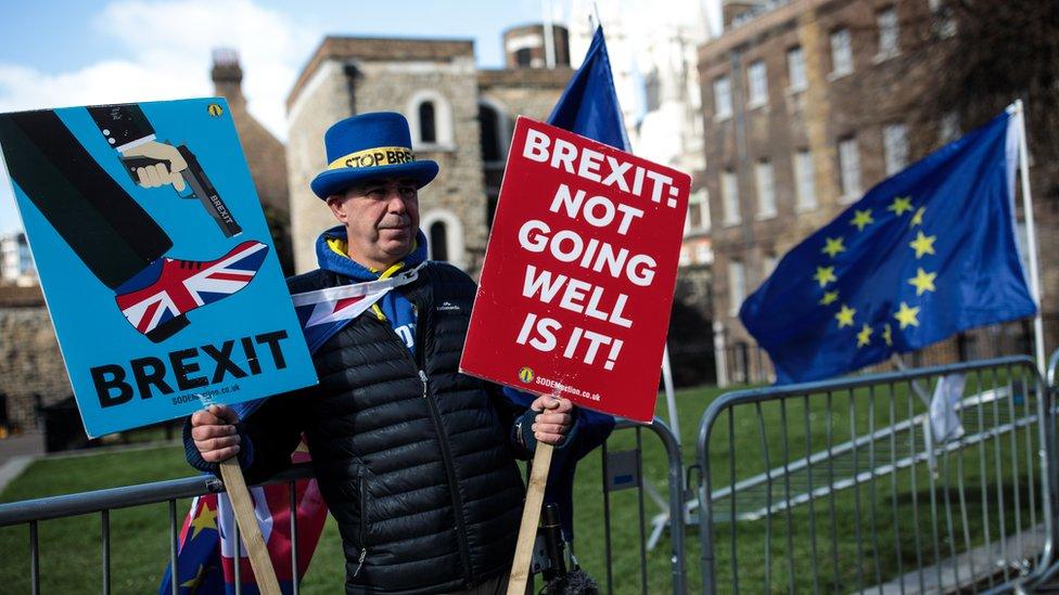 Manifestante anti Brexit