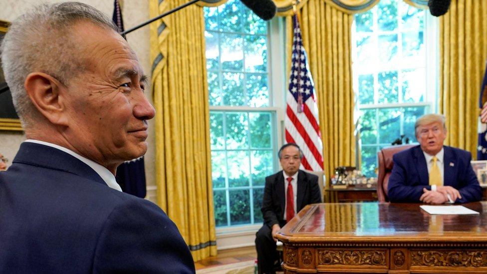特朗普和劉鶴在白宮見面