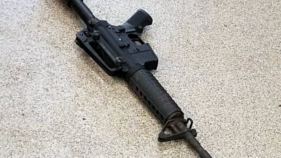 A handout photo by the Metro Nashville Police Department shows the AR-15 style rife used by the gunman