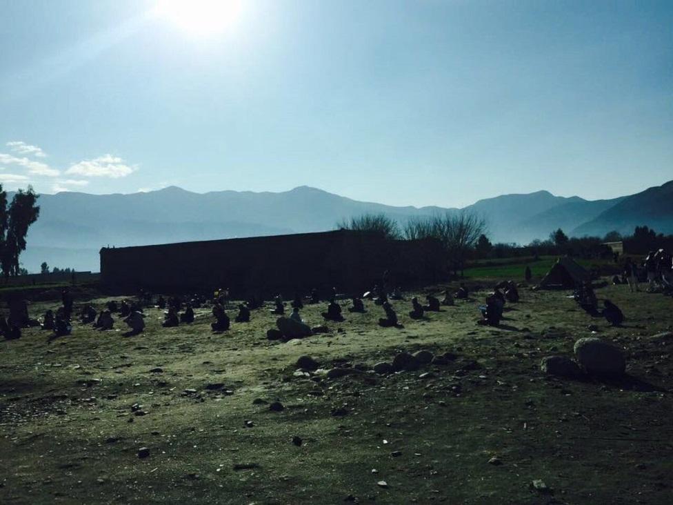 Niños toman exámenes en la provincia de Kunar