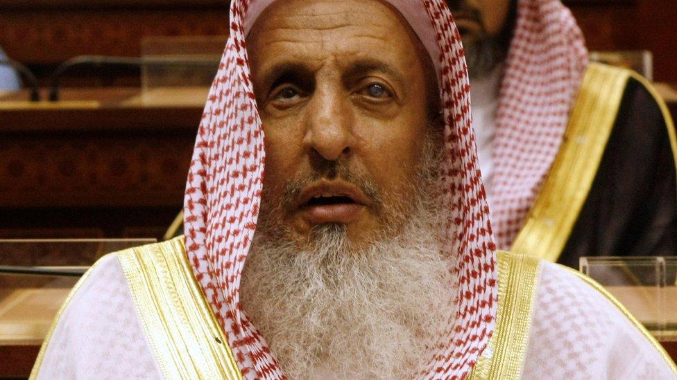 File photo of Saudi Arabia's Grand Mufti, Abdul Aziz Al Sheikh (24 March 2009)