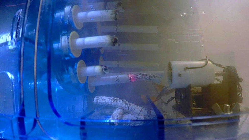 A chain-smoking robot