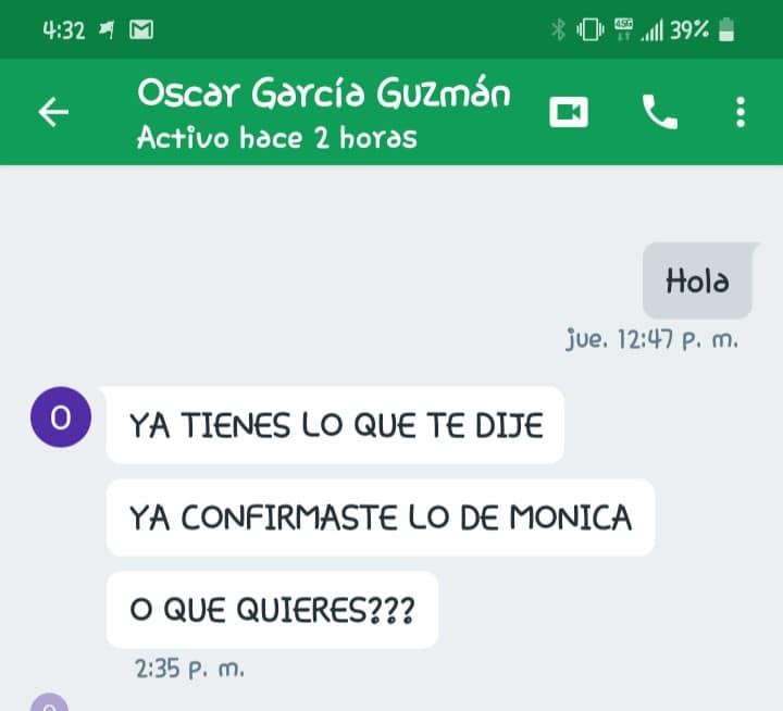 Conversación de Frida Guerrera en Google
