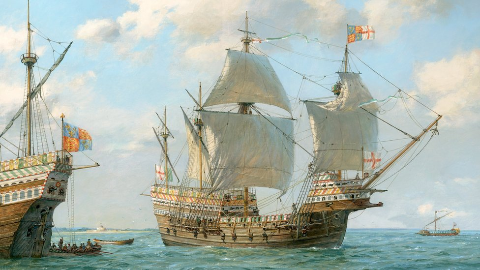A painting of the Mary Rose