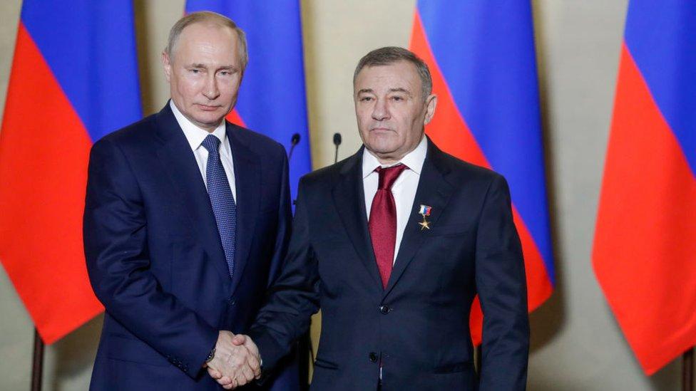 Vladimir Putin y Arkady Rotenberg