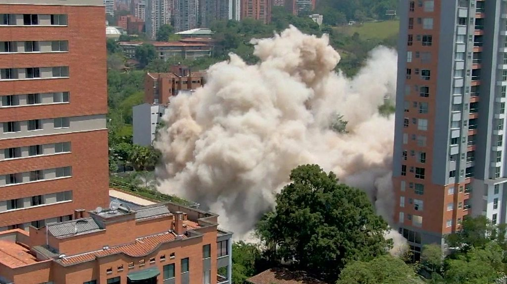 Pablo Escobar's former home demolished in Colombia.