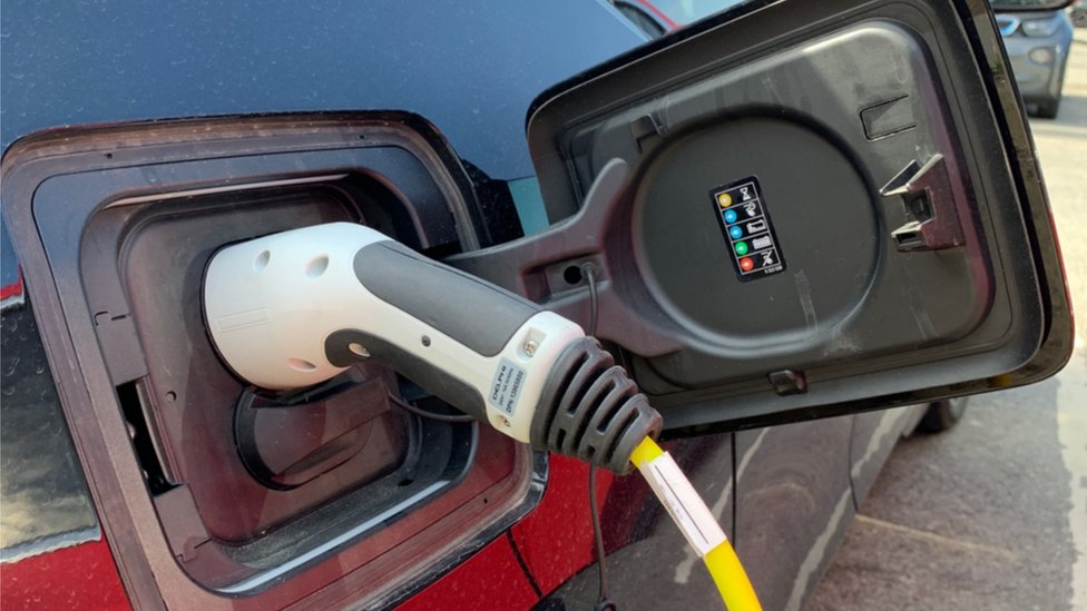 plug in of an electric vehicle