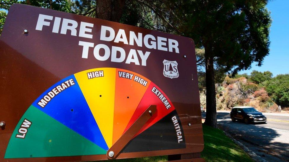 Sistema que mide el riesgo de incendio