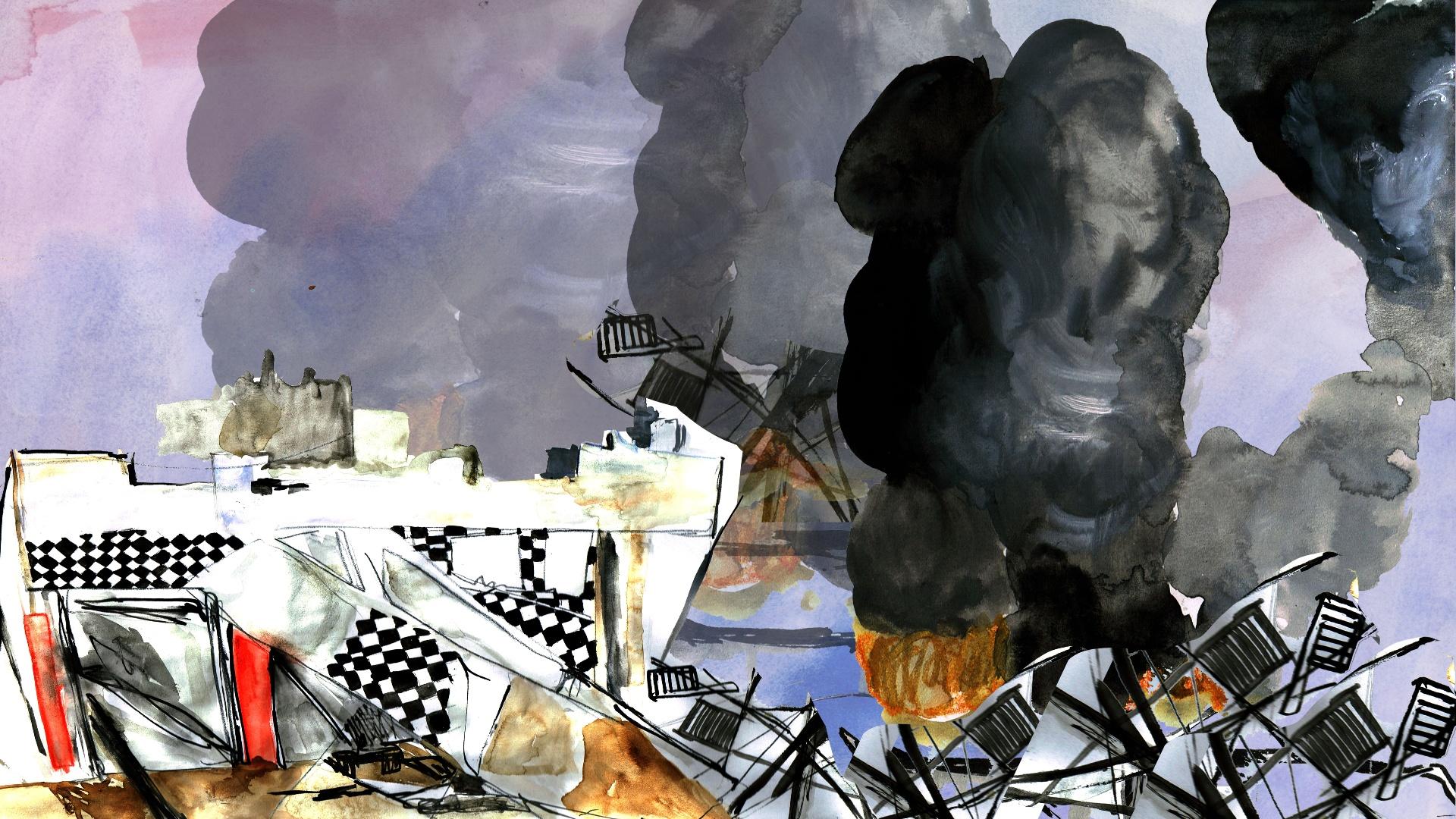 رسم لحرب لبنان