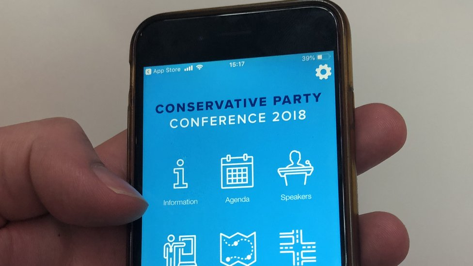 Conservative Party conference app reveals MPs' numbers
