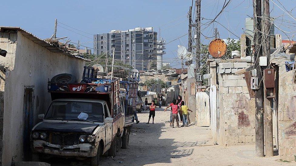 Barrio pobre en Líbano