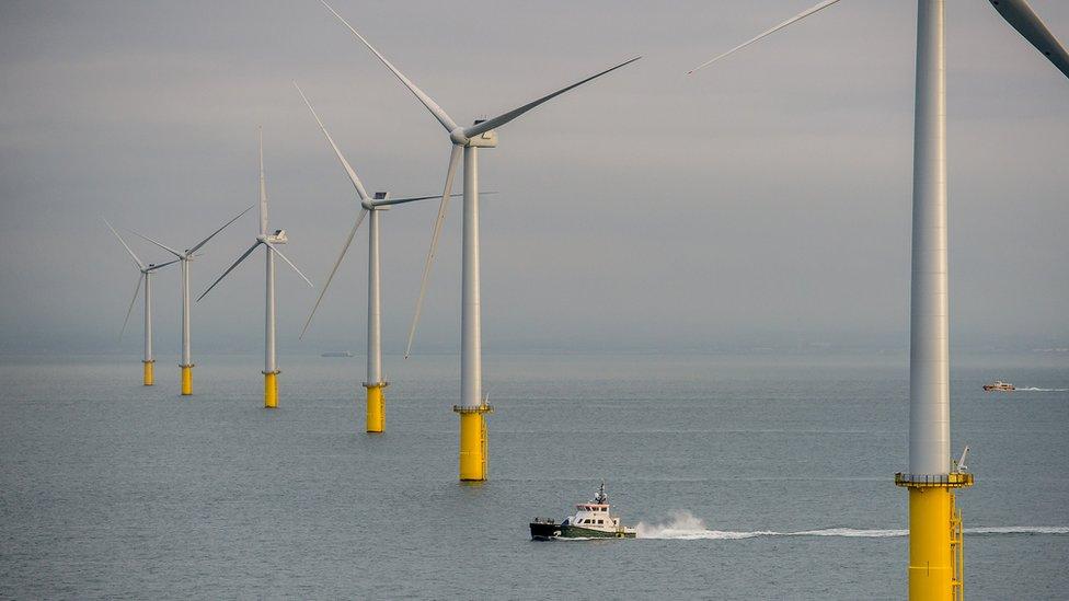 The wind farm stretches over 72 square kilometres