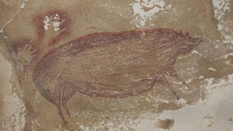 Indonesia cave painting