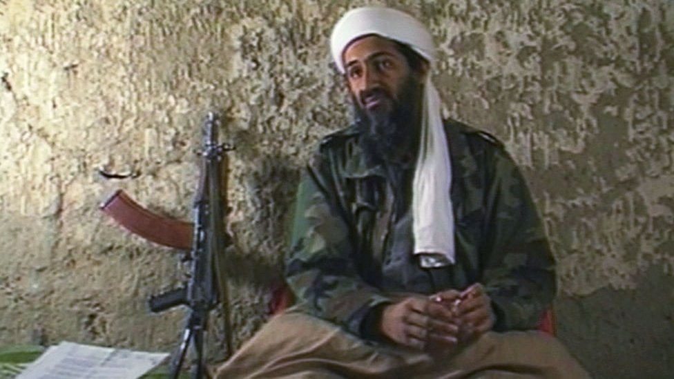 Osama Bin Laden during an interview with CNN in 1998
