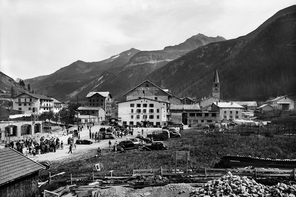 Val d'Izer u oktobru 1939. godine - Hotel des Glasijers u gornjem levom uglu