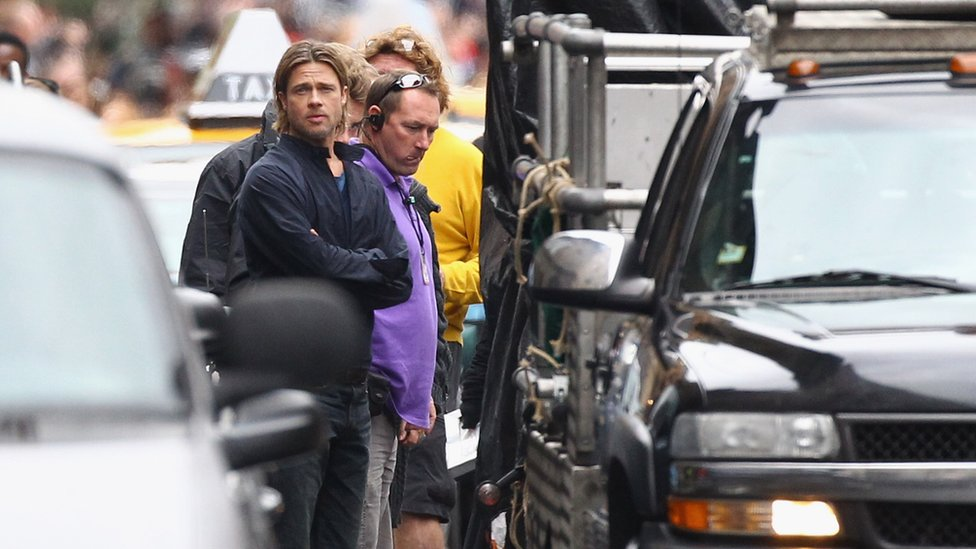 Brad Pitt shoots World war Z