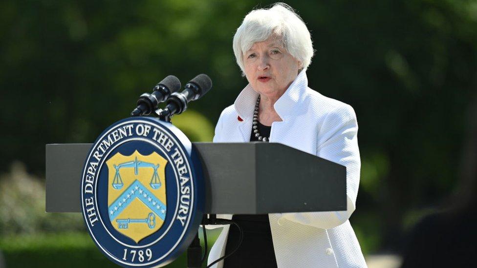 La secretaria del Tesoro de Estados Unidos, Janet Yellen.