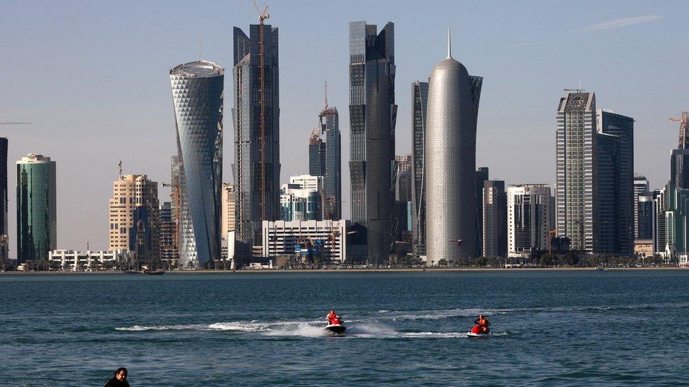 Gedung pencakar langit di Doha