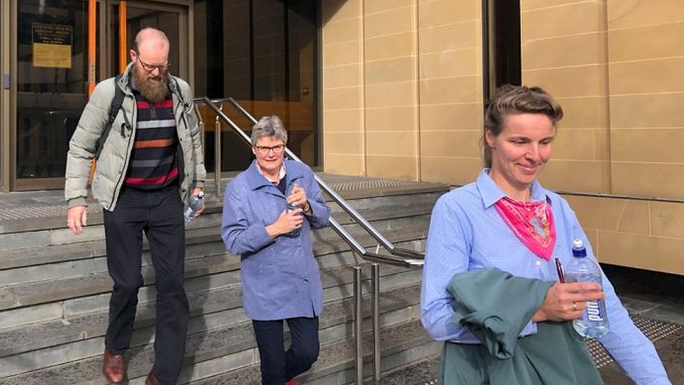 The Beerepoots leave court on 17 July 2019