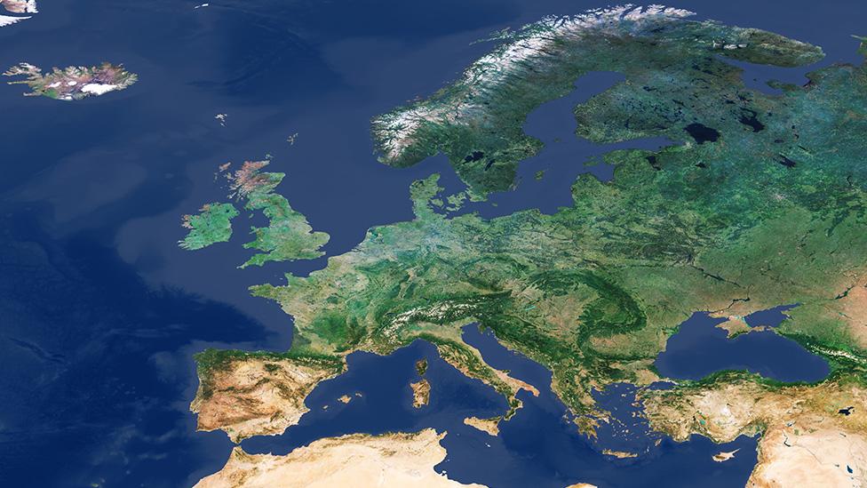 Sentinel-3 cloud-free mosaic of Europe