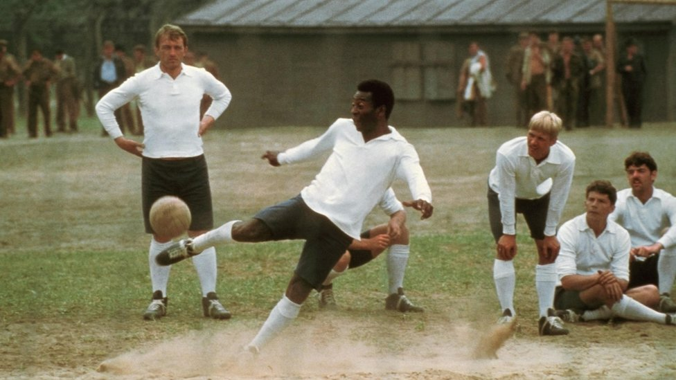 Pele in action in Escape to Victory