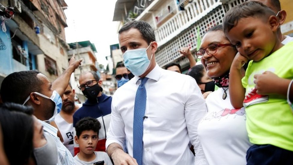 Juan Guaid meets supporters in Caracas