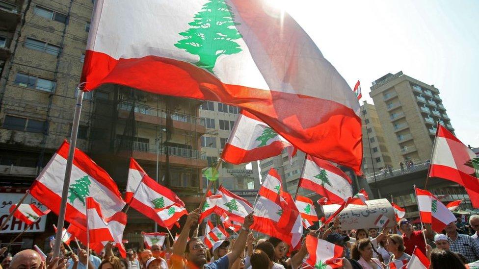 متظاهرون لبنانيون
