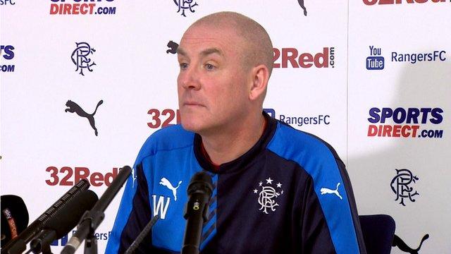Rangers manager Mark Warburton at press conference
